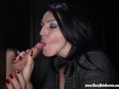 Gloryhole Secrets Milf Kitty gets so horny from sucking cock