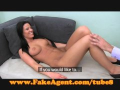FakeAgent Creampie for nervous blonde amateur