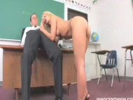 cute blonde teen sucks th...