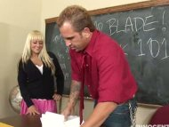 Busty blonde schoolgirl B...