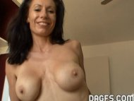 Busty mature slut masturb...