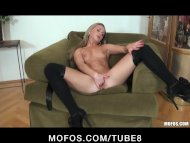 Young Blonde Teen in stoc...