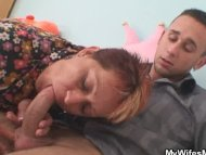 Cock hungry mom jumps on ...