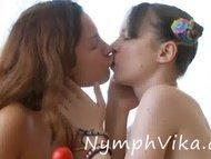 Sexy lesbian teens toying...