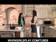 Horny young skinny teen l...