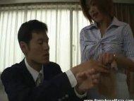 Mad lady boss punishes em...