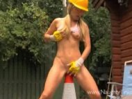 Horny blonde Tinkerbell h...
