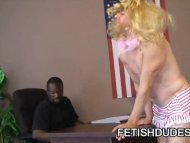 Ebony stud humiliating a ...