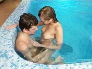 Fucking in swimming pool