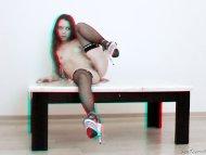 Flexible teen girl posing...