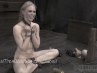 Blonde Ballerina Caned in...