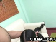 Paola - Pigtailed Shemale...
