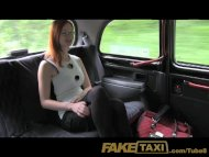 FakeTaxi Red head with bi...