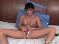 tickling her piercied cli...
