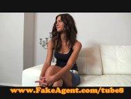FakeAgent Shy brunette pl...