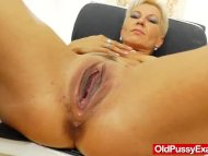 Blondes mamma gyno in add...