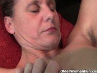 Granny gets her hard nipp...