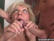 Two guys drill her old ho...