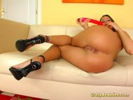 Crazy beauty babe toying ...