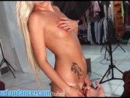 Sexy blonde lapdances and...