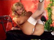 Petite blonde rubbing her...