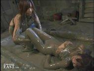 Japanese FemDom Mud Wrest...