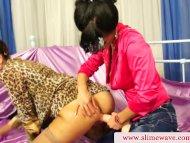 Strapon lesbian pounding ...