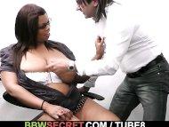 Married boss screws ebony...