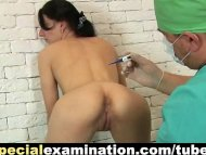 Gyno exam for shy young b...