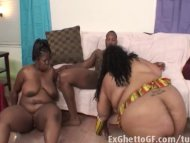 Very big threesome with B...