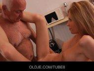 Skinny blonde teen seduce...