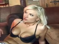 Blonde dped in black thig...