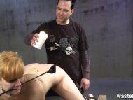 Ginger sex slave is whipp...