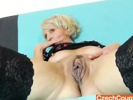 Blond-haired mature with ...
