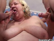 Granny double blowjob and...