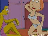 Lesbian Hentai - Marge Si...