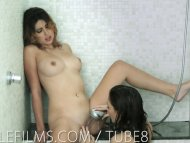 Lesbian lovers hot shower...
