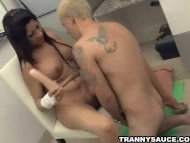 Shemale Maria gets head b...