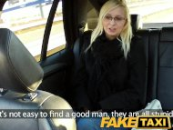 FakeTaxi Blonde with glas...