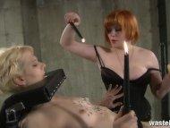 Ginger femdom makes her b...