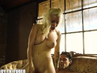 Inked blonde gets some cock