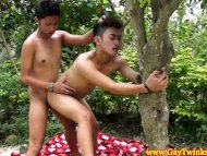 Barebacking asian twinks ...
