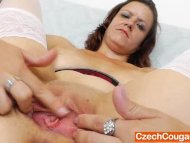 Horny mature masturbating...