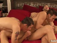 Sexy gays banging in thre...