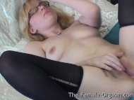 Horny Real Blonde Coed wi...