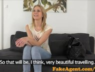 FakeAgent Horny blonde am...