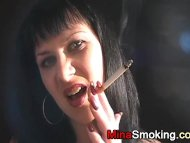 Smoking strict lady fetish