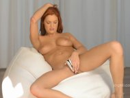 Red Head Masturbates With...