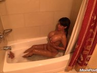 MILF takes bath BTS