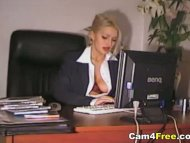 Sexy Secretary Horny At W...